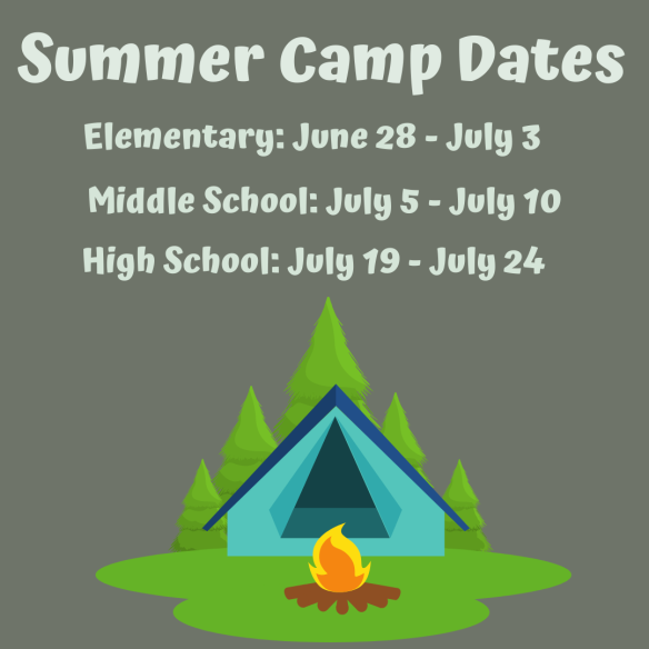 Summer Camp Dates 2020
